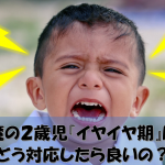 【子育ての悩み相談】魔の2歳児『イヤイヤ期』にどう対応したら良いの?